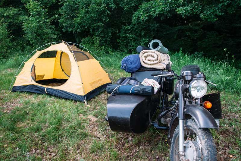 De camping en moto